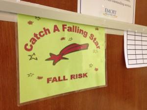 I am a fall risk.