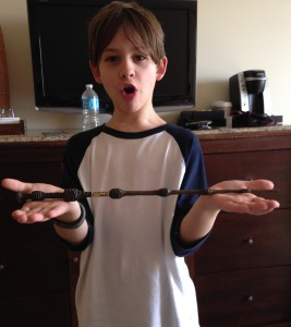 His wand!