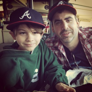 The Boy & My Man @ The Braves Game